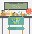 Flat Design Science On The Table vector image vector image