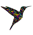floral hummingbird vector image vector image