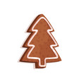 gingerbread cookie in the shape of a fir tree vector image vector image