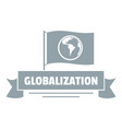 globalization business logo simple gray style vector image vector image