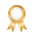 golden round award badge on white stock vector image