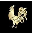 Golden silhouette of an cock vector image vector image