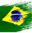 grunge background in colors of brazilian flag vector image
