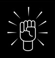 hand up icon vector image