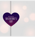 happy valentines day greeting bokeh background vector image vector image