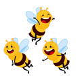 honey and bee character honey vector image vector image