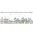 horizontal winter banner christmas snowy houses vector image