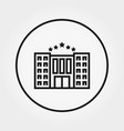 hotel building icon editable thin line vector image