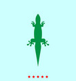 lizard set it is color icon vector image