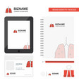 lungs business logo tab app diary pvc employee vector image vector image