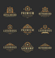 luxury monograms logos templates objects vector image