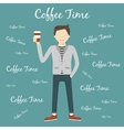 Man Drinking Coffee vector image vector image