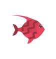 marine life red fish cartoon sea fauna animal vector image vector image