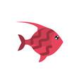 marine life red fish cartoon sea fauna animal vector image