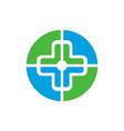 medical logo design concept icon vector image vector image