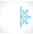 Merry Christmas card and snowflake vector image