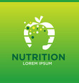 mind nutrition logo designs vector image