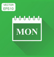 monday calendar page icon business concept monday vector image