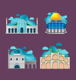 muslim building culture architecture design vector image vector image
