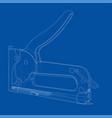 outline construction stapler vector image