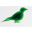 paper art and craft of environment with bird vector image vector image
