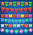 Party celebration colorful flags collection