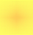 pop art background orange yellow dots vector image
