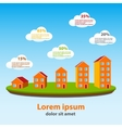 Real estate concept infographics vector image vector image