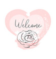 romantic rose border design vector image vector image