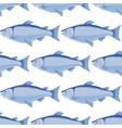 salmon seamless pattern - cartoon fish vector image