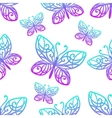 Seamless Texture Butterfly Colored vector image vector image