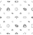 seasonal icons pattern seamless white background vector image vector image