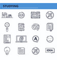 set education books knowledge icons in vector image vector image