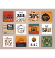 Set of artistic creative autumn sale cards vector image vector image