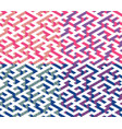 set of isometric maze with blue and pink edges vector image vector image