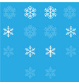 snowflakes set white color for holidays vector image