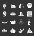 thanksgiving icons set grey vector image vector image