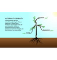 The concept of tree energy vector image