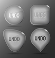 Undo Glass buttons vector image vector image