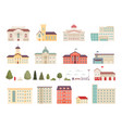 urban municipal houses different buildings in vector image vector image