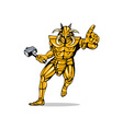 Villain Knight Armor with Hammer vector image vector image