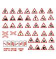 warning signs vector image vector image