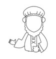 wise man epiphany manger character design vector image vector image