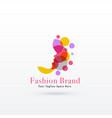 woman face logo concept design vector image