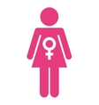 woman figure silhouette icon vector image vector image