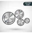 Gear icon isolated vector image