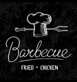 barbecue typographical concept vector image