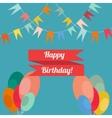 Happy birthday in style flat vector image