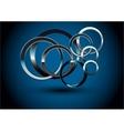 Abstract Metallic Rings vector image