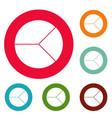 circle graph icons circle set vector image